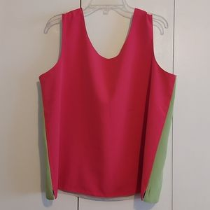 Vintage Colorblocked Reversible Four-in-One Top